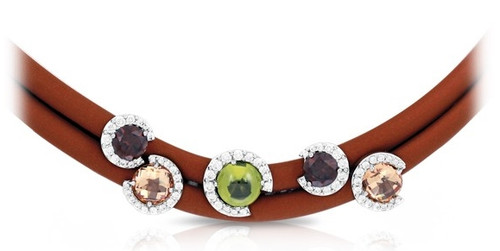 Belle Etoile Element Necklace Brown