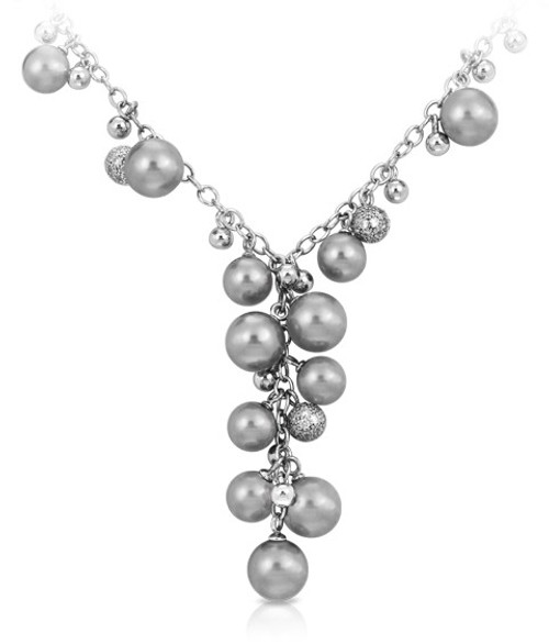 Belle Etoile Indulgence Necklace Grey
