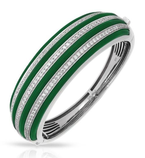 Belle Etoile Intermezzo Bangle Emerald