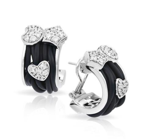 Belle Etoile Intrecci Black Earrings