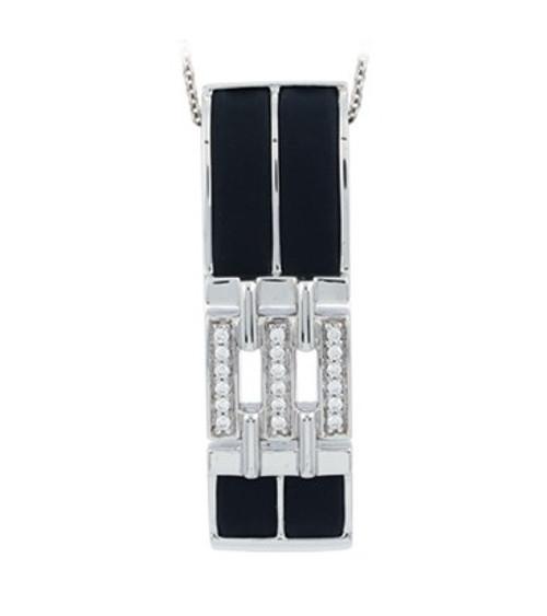 Belle Etoile Links Pendant Black