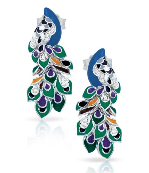 Belle Etoile Love in Plume Earrings Green