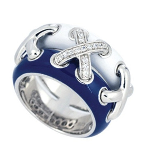 Belle Etoile Maille Ring Blue