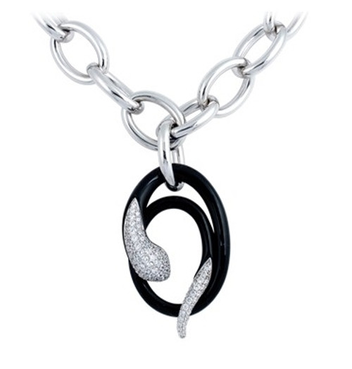 Belle Etoile Mamba Black Drop Necklace