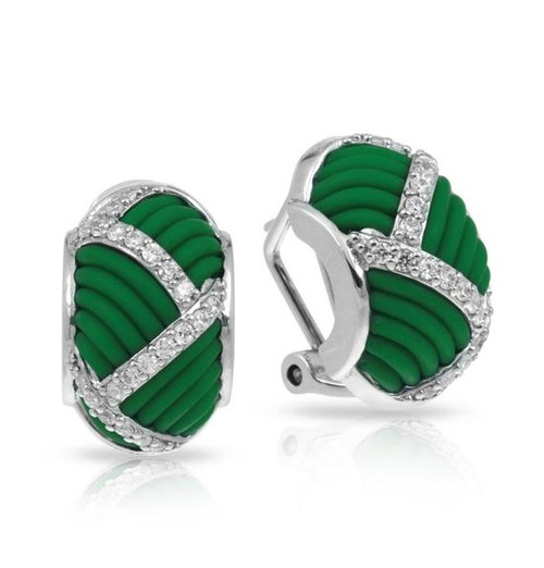 Belle Etoile Striatta Earrings Green