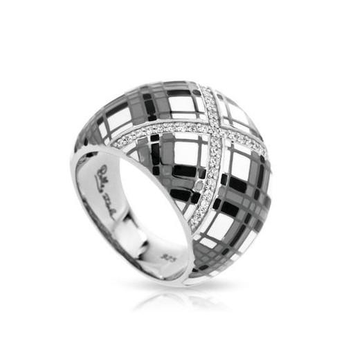 Belle Etoile Tartan Ring Black & White