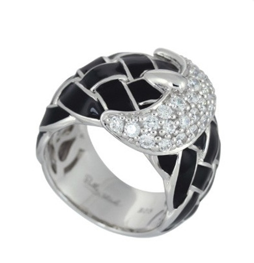 Belle Etoile Treccia Ring Black