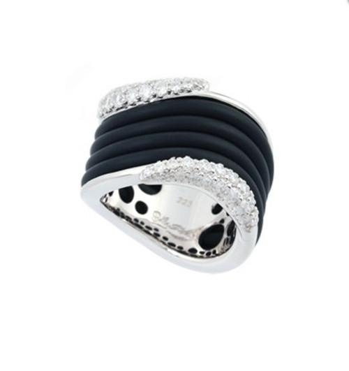 Belle Etoile Wave Ring Black