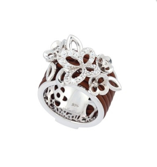 Belle Etoile Wildflower Ring Brown