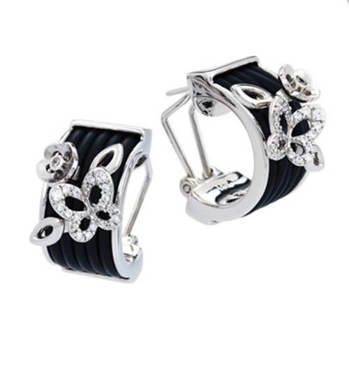 Belle Etoile Wildflower Earrings Black