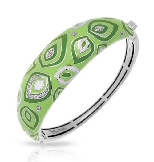 Belle Etoile Zen Bangle Apple Green