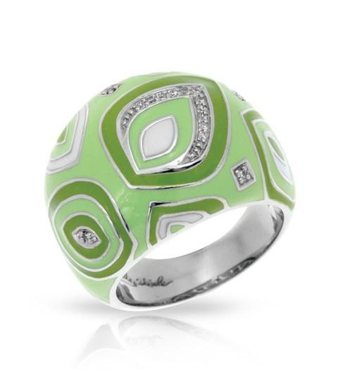 Belle Etoile Zen Ring Apple Green