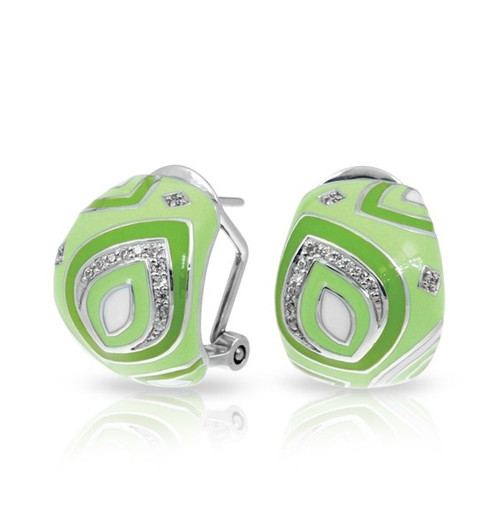 Belle Etoile Zen Earrings Apple Green
