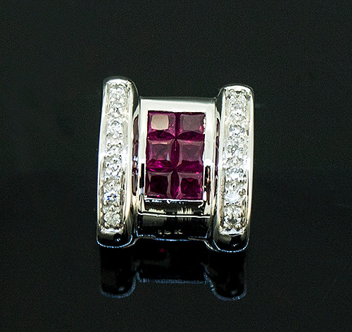56510070 RUBY AND DIAMOND PENDANT 18K