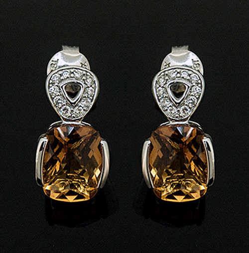 23510223 CITRINE AND DIAMOND EARRINGS 18K