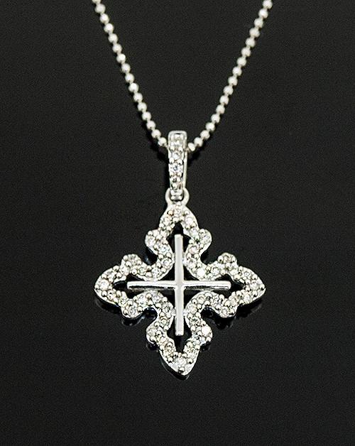MKD10059 DIAMOND CROSS PENDANT 14K