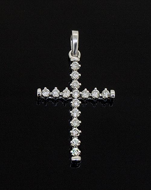 GBC11944 DIAMOND CROSS PENDANT 14K