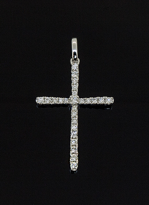 GBC12062 DIAMOND CROSS PENDANT 14K