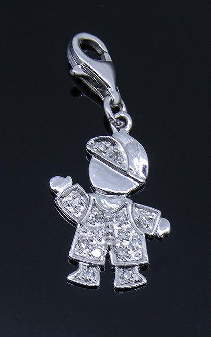 GBC12171 DIAMOND BOY CHARM 14KW