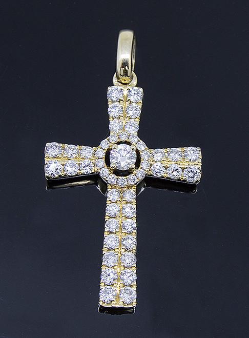GBC12170 DIAMOND CROSS PENDANT 14KY