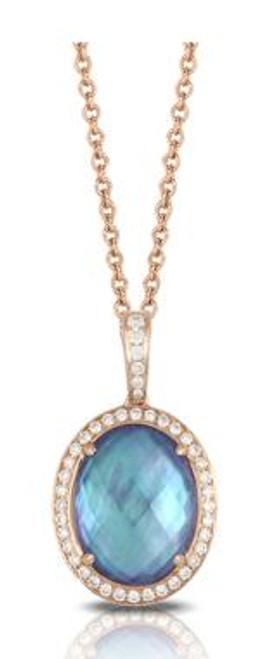 DOV10027 PARISIAN PLUM DIAMOND PENDANT 18KR