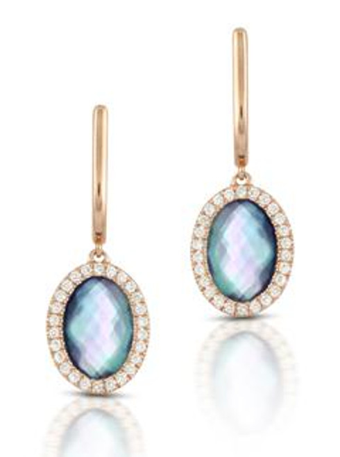 DOV10034 PARISIAN PLUM DIAMOND EARRINGS 18KR