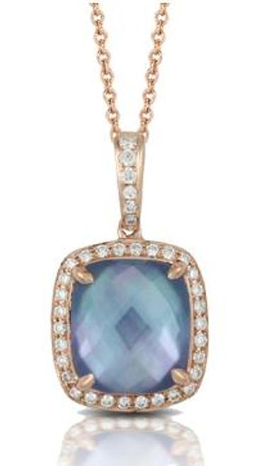 DOV10036 PARISIAN PLUM DIAMOND PENDANT 18KR
