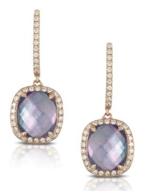 DOV10037 PARISIAN PLUM DIAMOND DANGLE EARRINGS 18KR