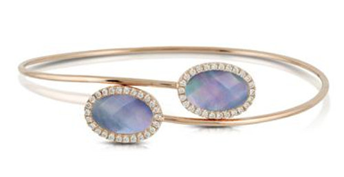 DOV10039 PARISIAN PLUM DIAMOND BYPASS BANGLE 18KR