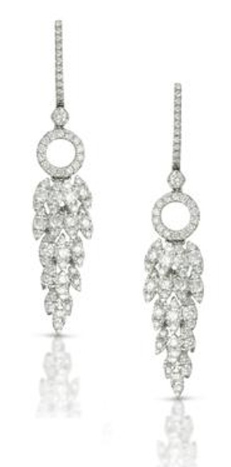 DOV10041 DIAMOND FASHION DANGLE EARRINGS 18KW
