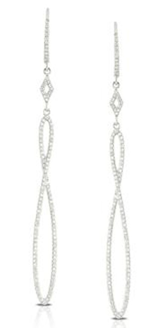 DOV10042 DIAMOND FASHION DANGLE EARRINGS 14KW