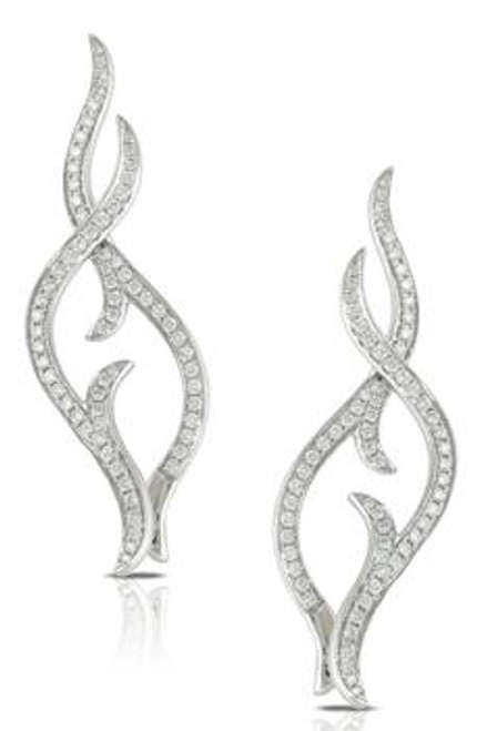 DOV10043 DIAMOND FASHION FLAME EARRINGS 18KW