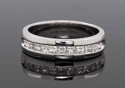 GBC12316 PRINCESS CUT MANS DIAMOND RING 14KW
