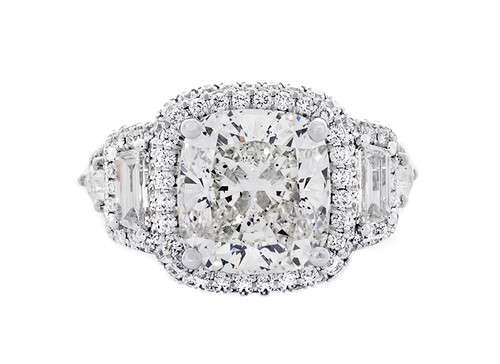 REG10755 5.04CT CUSHION DIAMOND AND 2.00CT SETTING 18KW