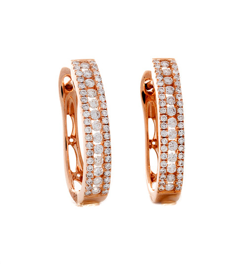MKD10276 .51CT DIAMOND HOOP EARRINGS 14KR