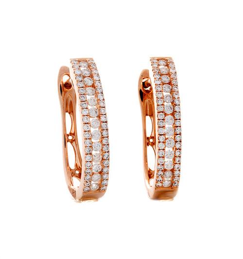 MKD10276 .51CT DIAMOND HOOP EARRINGS 14KR