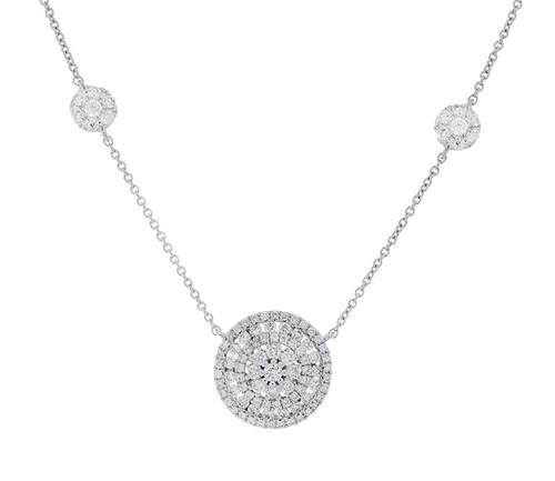 GBC12463 .90CT DIAMOND NECKLACE 14KW