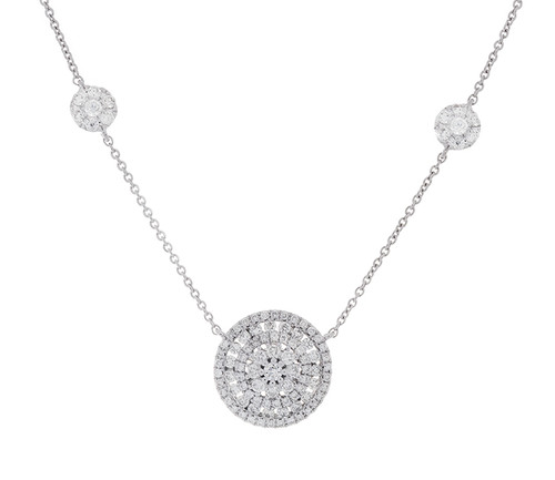 GBC12463 .90CT DIAMOND NECKLACE 14KW
