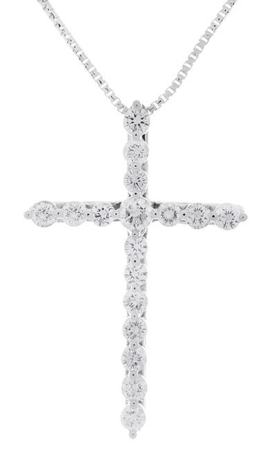 GBC12426 .63CT DIAMOND CROSS PENDANT 14KW