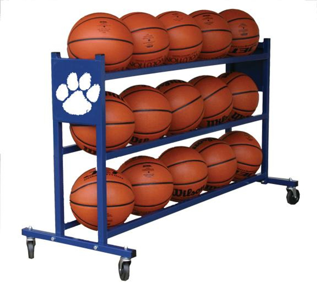 Custom Mascot Basketball Rack (Holds 15 basketballs)
