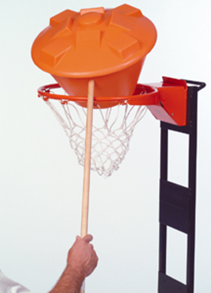 Installation and takedown of the EZ Basketball Rebounder with a broom handle!