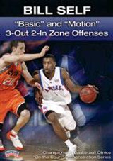 Bill Self: Basic and Motion 3-Out 2-In Zone Offenses