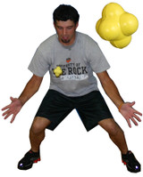 Athlete demonstrating use of the Reaction Ball