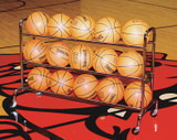 Deluxe 15 Basketball Ball Rack