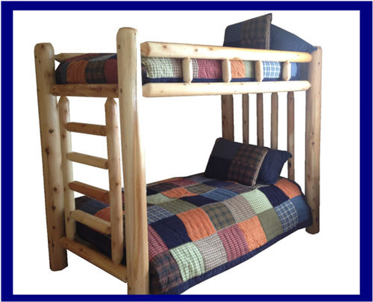 Picture of: Rustic Cedar Log Bunk Beds With Free Shipping