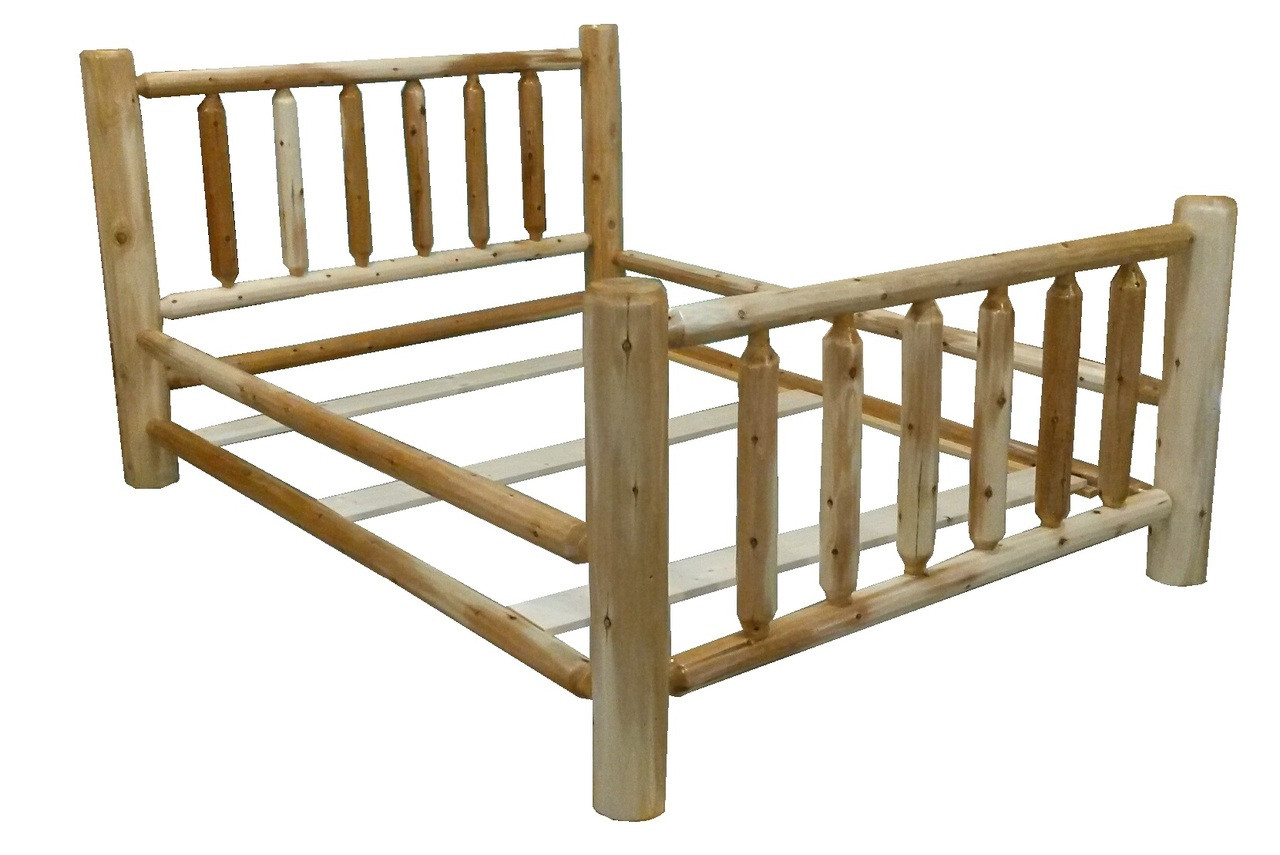 Original Rustic Cedar Log Bed Free Shipping
