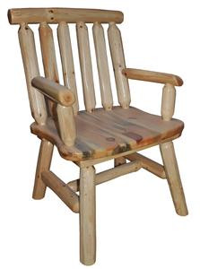 Log Dining Chair With Arms Michigan Rustics