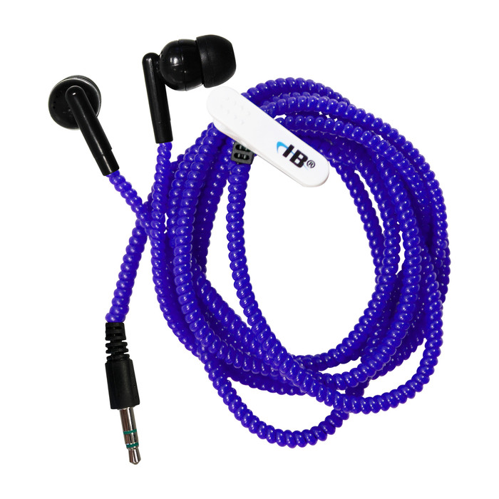 Tangle-FREE Silicone Earbuds - Blue