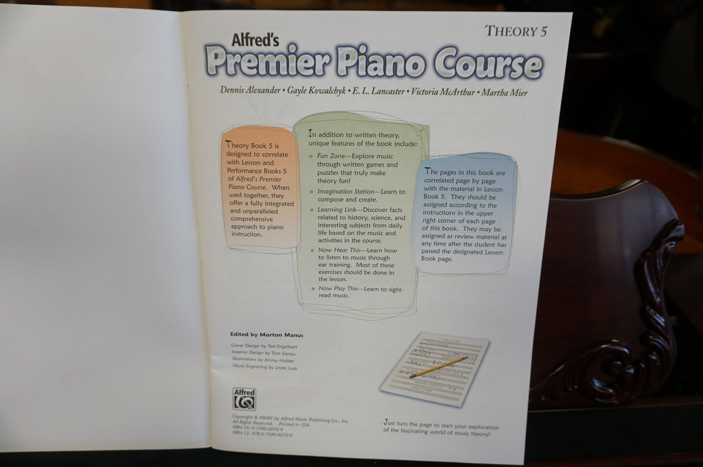 Alfred's Premier Piano Course Theory 5