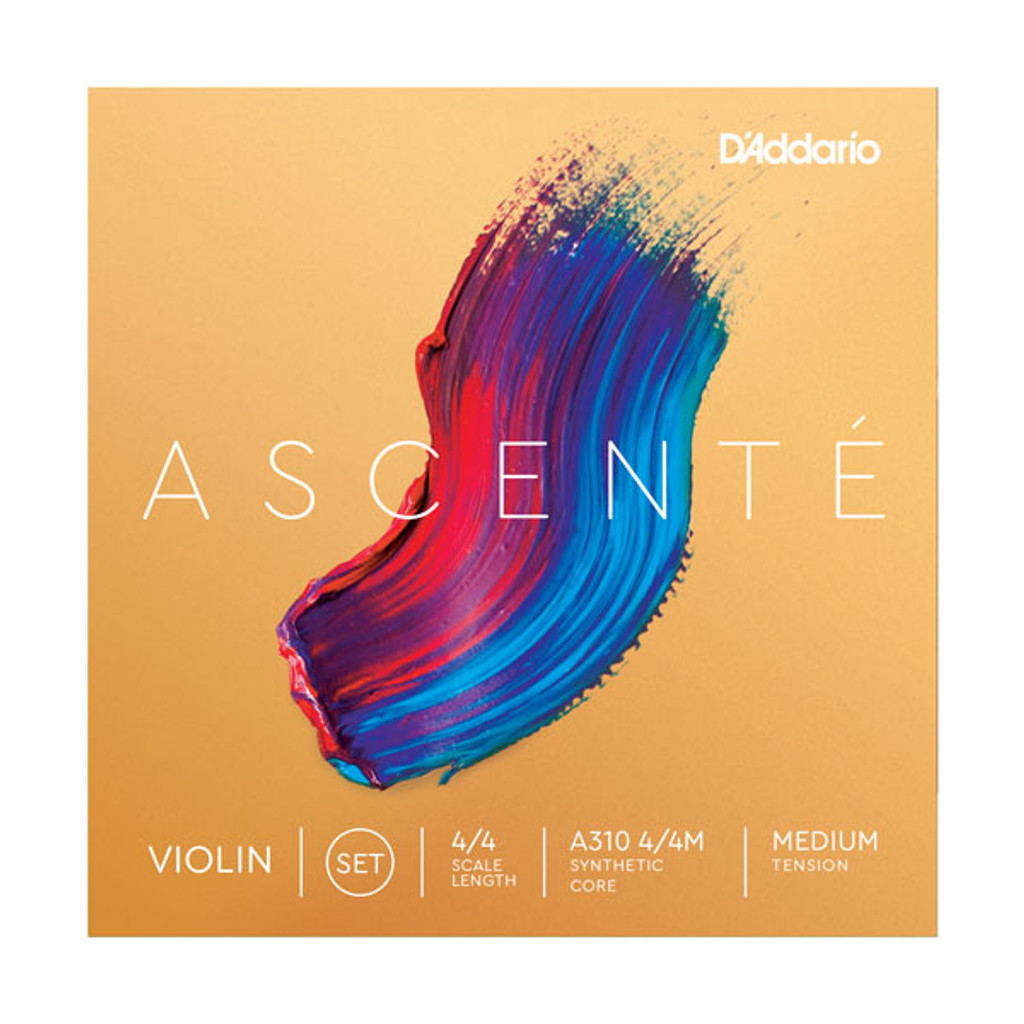 D'Addario Ascente Medium Tension 4/4 Violin String Set